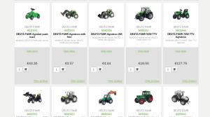 traktorski modelčki in igračke