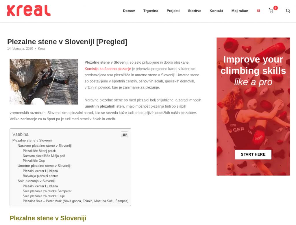 kaj je optimizacija spletnih strani plezalne stene
